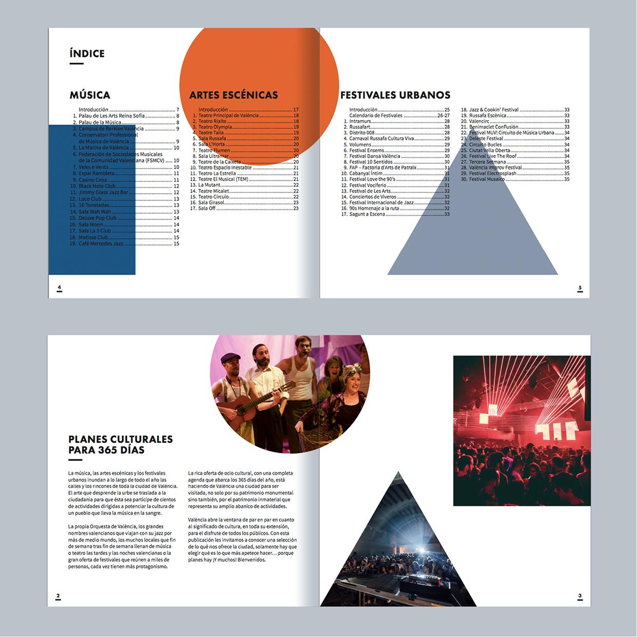 Diseño de folleto Valencia Turismo